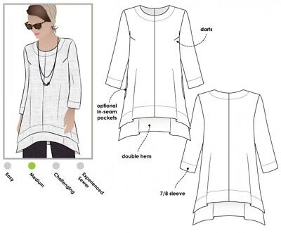 £12.99 • Buy Style Arc Ladies Sewing Pattern Daisy Tunic Top (MLTW018S-M)