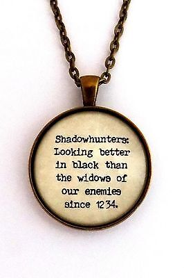 SHADOWHUNTERS Cassandra Clare Mortal Instruments Literary Quote Pendant Necklace • 13.02£