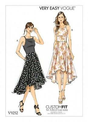 Vogue Ladies Easy Sewing Pattern 9252 Princess Seam High Low Dresses (Vogue-9... • 14.50£