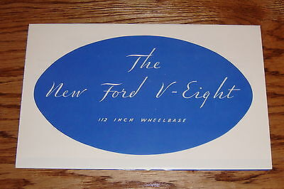 AU15.74 • Buy 1933 Ford Car V-8 112 Inch Wheelbase Foldout Sales Brochure 33 Roadster Coupe