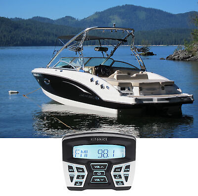 $99.95 • Buy Hifonics TPS-MR1 Marine Gauge Hole Mount Bluetooth Receiver Radio Stereo 4 Boat