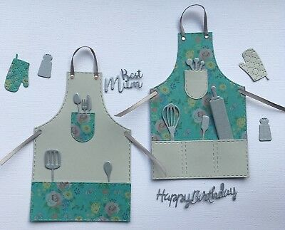 £2.50 • Buy Delightful Apron Card Toppers - 9 Styles. Mother's Day, Birthday, Aunty, Nan