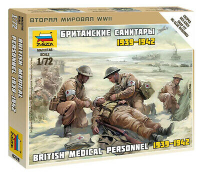 Zvezda 1/72 Figures British Medical Personnel 1939 - 1942 Z6228 • 4.95£