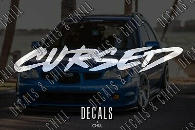 $3.75 • Buy Cursed Decal Sticker - Illest Lowered JDM Stance Low Slammed