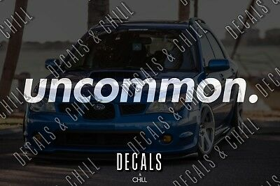 $3.75 • Buy Uncommon Decal Sticker - Illest Lowered JDM Stance Low Slammed