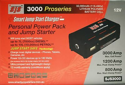AU388 • Buy SJS3000 PRO SMART JUMP STARTER POWER BANK! Starts Up To 7l Diesel 10L Petrol