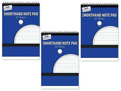 £2.49 • Buy 3x A5 Shorthand Pad Spiral Wirebound Note Book List Reporters Ruled 50 Sheet