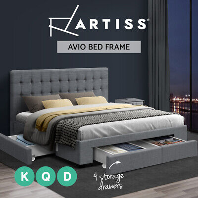 AU349.95 • Buy Artiss Bed Frame Double Queen King Size Base With Storage Drawer Mattress