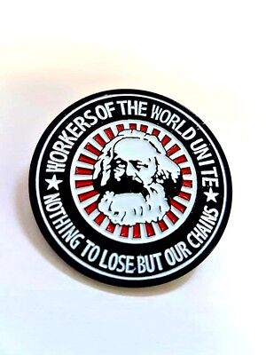 Karl Marx Enamel Pin Badge - Workers Of The World Marxist Socialist Communist • 4.99£