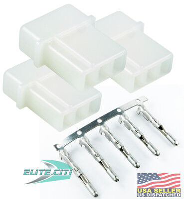 $6.11 • Buy TE/AMP 3 Pin Strobe Bulb Power Supply Male Connector Cable Whelen Federal 3-PACK