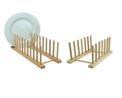 Apollo Wooden Wood Dish Plate Rack Holder Drainer • 5.69£