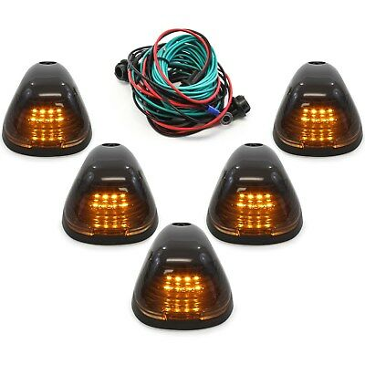$24.49 • Buy 5 Smoke Cab Marker Light W/ Amber LED Assembly & Wiring Fits 99-16 Ford 250-550