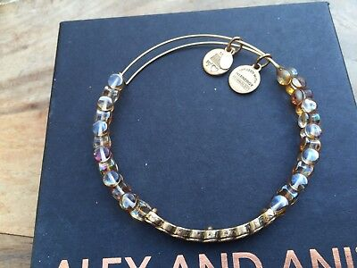 ALEX And ANI Indie Spirit COPPER WINDING ROAD Beaded GOLD Wrap BRACELET💎 • 31.11£