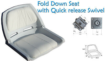 $ CDN139 • Buy Fold Down Boat Seat Boat Folding Molded Fishing Seat With Quick Release Swivel