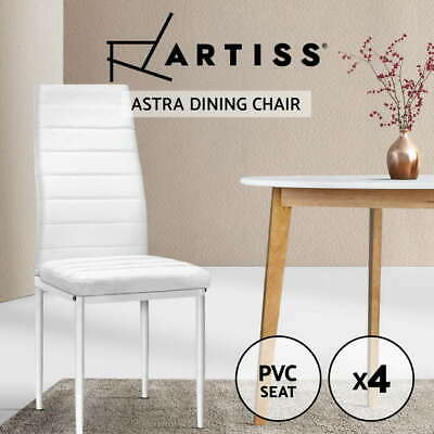 AU109.95 • Buy Artiss 4x Astra Dining Chairs Set Leather PVC Stretch Seater Chairs