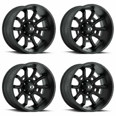 $840.78 • Buy Set 4 20  Vision 415 Bomb Black Wheels 20x9 8x170 12mm Ford F250 F350 8 Lug Rims