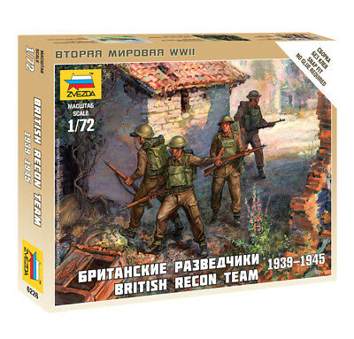 Zvezda 1/72 Figures - British Recon Team 1939 - 1945 Z6226 • 4.95£