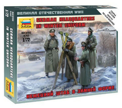 Zvezda 1/72 Figures - German Headquarters In Winter Uniform Z6232 • 4.95£