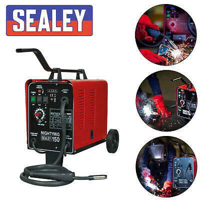Sealey 30-150Amp Professional Gasless / No Gas Mig Welder Unit 230v MIGHTYMIG150 • 224.99£