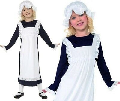 £9.35 • Buy Childrens Victorian Maid Girl Fancy Dress Costume Childs Girls Outfit By Smiffys