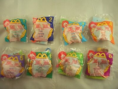 McDonalds Happy Meal Winnie The Pooh Soft Plush Toy Clips Set Of 8 • 17.99£