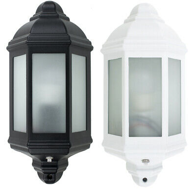 Modern Outdoor Security Bulkhead Wall Light Dusk Dawn PIR Motion Sensor Lamp • 24.99£