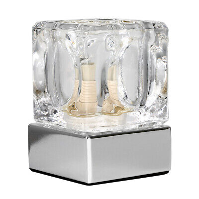 £14.99 • Buy Modern Ice Cube Touch Table Lamp Dimmable Bedside Lounge Light Glass Shade Home
