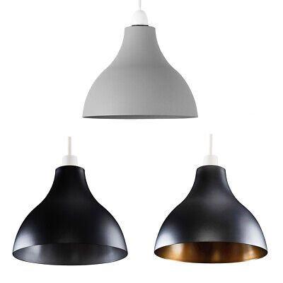£14.99 • Buy Ceiling Pendant Industrial Style Gloss Modern Metal Indoor Home Light Lampshade