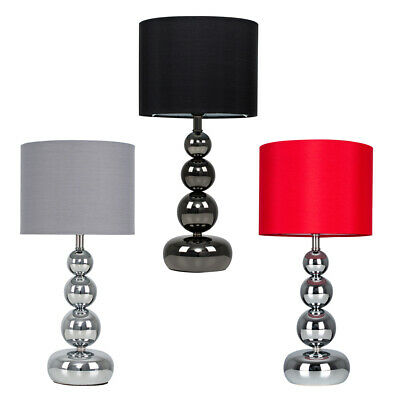 £16.99 • Buy Modern Dimmable Bedside Table Lamp Touch Dimmer Lounge Light Cotton Lampshade