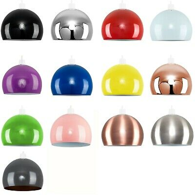 £14.99 • Buy Metal Dome Light Shades Retro Modern Ceiling Pendant Lampshades Various Colours