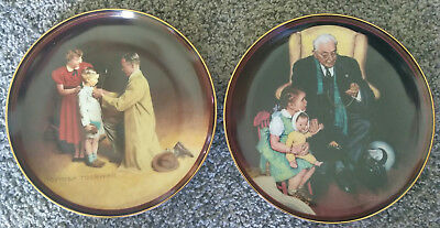 $ CDN25.16 • Buy Lot Of 2 Norman Rockwell Collector Plates TENDER LOVING CARE+READY FOR THE WORLD