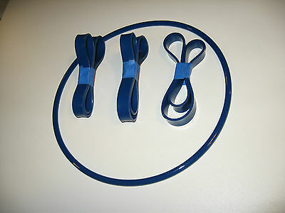 £27.61 • Buy 3 Blue Max Urethane Band Saw Tyres And Round Drive Belt Set For Nutool 0134a