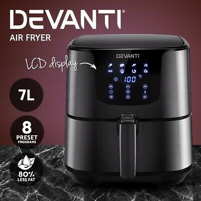 AU119.90 • Buy Devanti Air Fryer 7L LCD Fryers Oven Airfryer Healthy Cooker Oil Free Kitchen