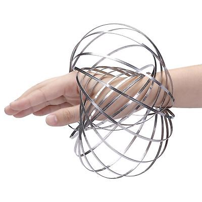 £3.19 • Buy 3D Silver Magic Flow Ring Toy Infinity Arm Kinetic Spring Slinky Juggle DanceX1