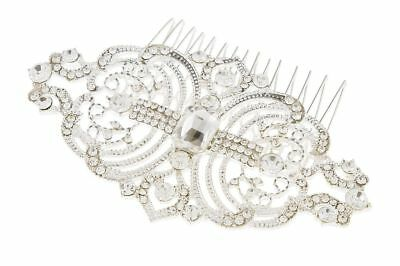Art Deco Inspired Crystal Bridal Hair Comb, Vintage Style Wedding Hair Comb • 7.99£