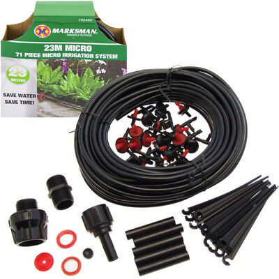 71pc Micro Irrigation Watering Kit Automatic Garden Plant Greenhouse Drip System • 6.95£