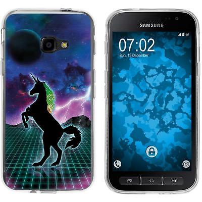 Case For Samsung Galaxy Xcover 4 / 4s Silicone Case Retro Wave M2 Cover • 8.90£