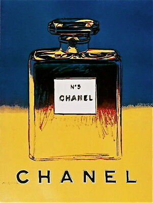 $2500 • Buy Chanel Yellow & Blue  Offset Litho On Paper Mounted On Canvas Andy Warhol LARGE