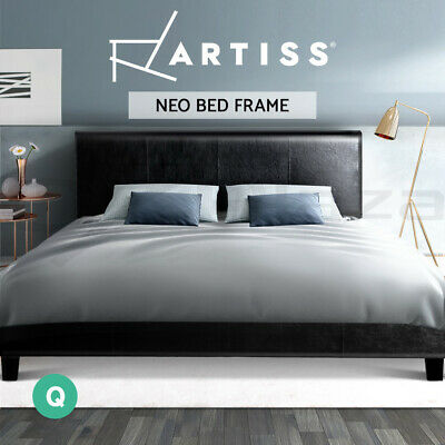 AU174 • Buy Artiss Bed Frame Queen Size Base Mattress Platform Leather Wooden NEO