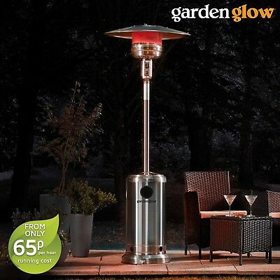 Garden Glow 13KW Gas Patio Heater Free Standing Outdoor Garden Fire Heating NEW • 94.99£