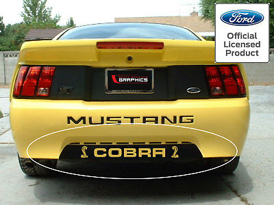 $14.99 • Buy 99-04 Ford Mustang Rear Lower Bumper Insert With Cobra Decal Graphics Vinyl
