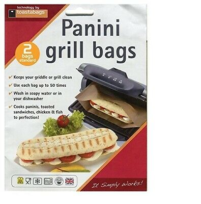 Toastabags Pack Of 2 Reusable Panini Grill Griddle Bags Toasted Sandwich Toastie • 2.47£