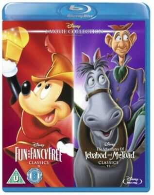 Fun And Fancy Free / The Adventures Of Ichabod And Mr Toad Blu-Ray NEW BLU-RAY ( • 13.43£