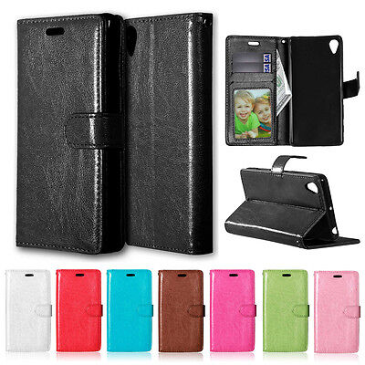 AU9.66 • Buy For Sony Xperia Z5 XA Z1 Faux Leather Wallet Case Magnet Stand Card Slots Cover