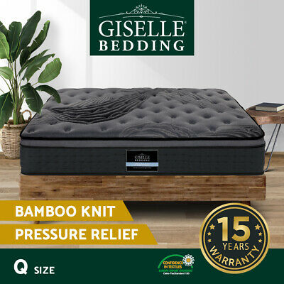 AU319.90 • Buy Giselle Bedding QUEEN Size Mattress Bed Pocket Spring Foam Bamboo 34CM