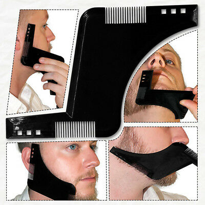 BEARD SHAPING TOOL - Template, Shaper, Stencil, Symmetry, Trimming, Comb . • 2.59£