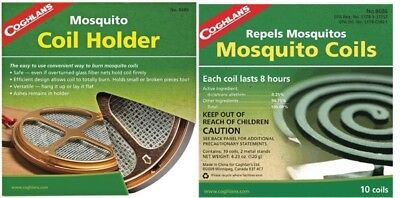 Coghlans  Mosquito Midge Insect Repellant Coil Holder + 10 Moskil Coils • 14.95£