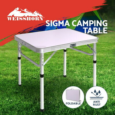 AU49.90 • Buy Weisshorn Folding Camping Table Portable Laptop PC Bed Dining Desk Picnic Garden