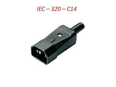 3 Pin Kettle Male High Quality  IEC DJ Mains Connector C14 10A Plug  UK • 3.99£