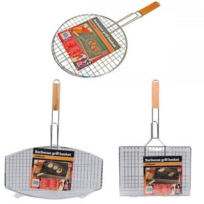 £8.99 • Buy BBQ Collection Outdoor Cooking Barbecue Metal Grill Meat Grilling Basket Rack